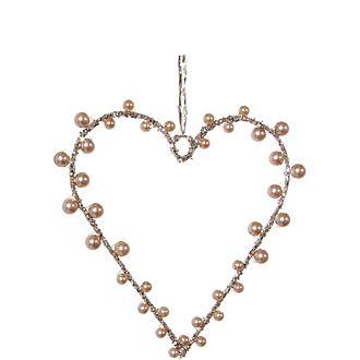 Bead Heart Tree Decoration