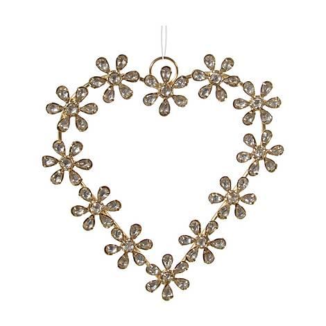 Jewel Heart Tree Decoration, ${color}