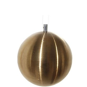 Brushed Gold Bauble