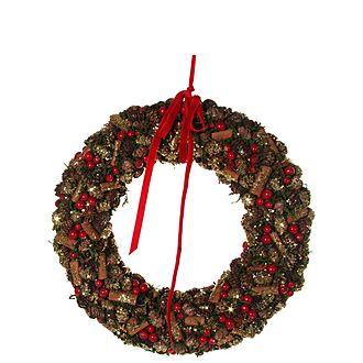 Cone Wreath 35cm