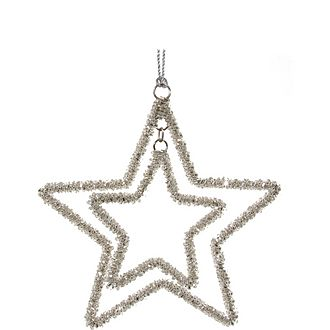Double Star Tree Ornament