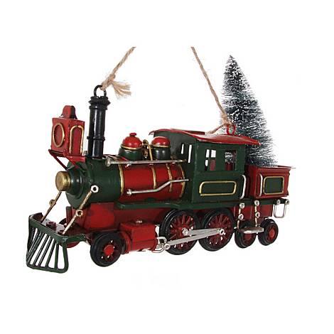 Metal Train Ornament 20cm, ${color}