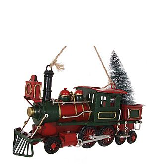 Metal Train Ornament 20cm
