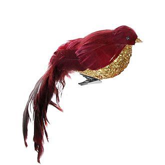 Bird with Clip Tree Decoration 17cm