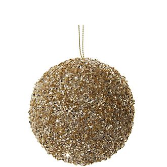 Glitter Bead Tree Decoration