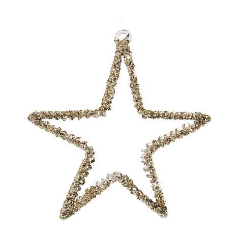 Spun Glass Star Tree Decoration, ${color}