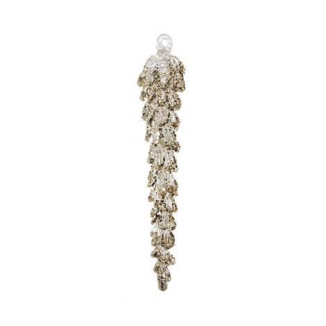 Spun Glass Icicle Tree Decoration, ${color}