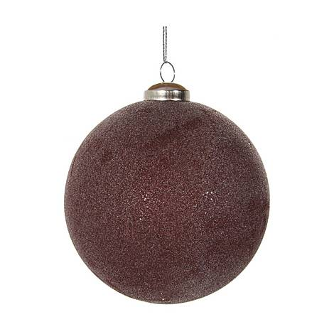 Frosted Glass Ball Tree Ornament, ${color}