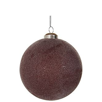 Frosted Glass Ball Tree Ornament
