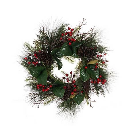 Foliage Wreath 66cm, ${color}