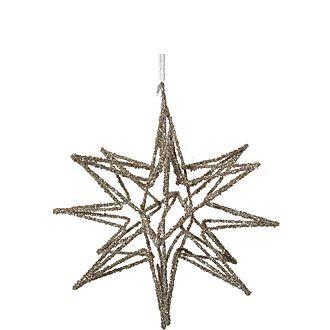 3D Metal Star Tree Decoration