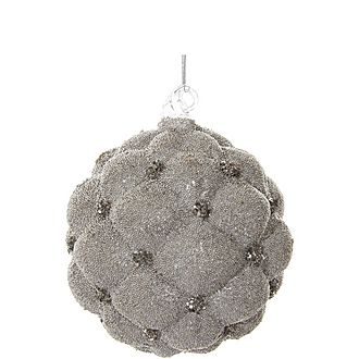 Velvet Glass Ball Tree Decoration