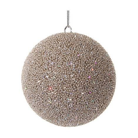Champagne Beaded Ball Tree Decoration, ${color}