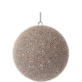 Champagne Beaded Ball Tree Decoration