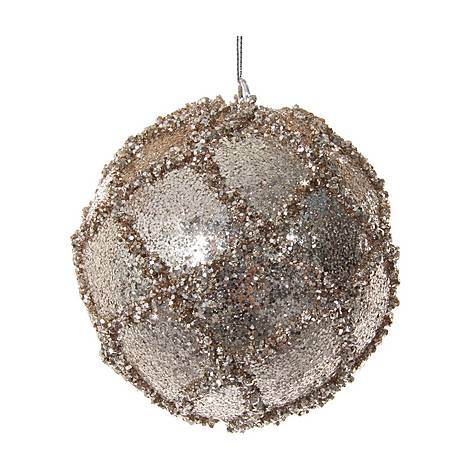 Lined Glitter Ball Tree Decoration, ${color}