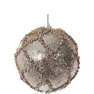 Lined Glitter Ball Tree Decoration