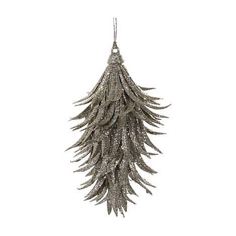 Glitter Leaf Drop Tree Decoration, ${color}