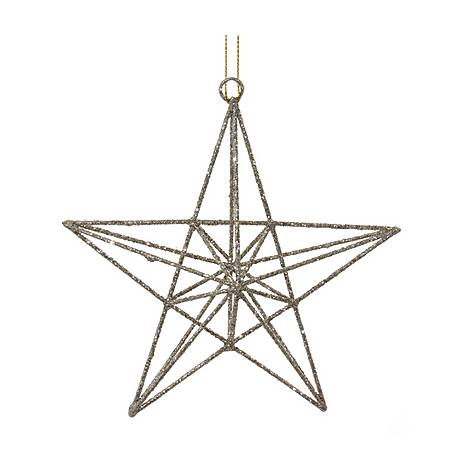 Wire Star Tree Decoration, ${color}