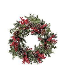 Berry & Pine Cone Wreath