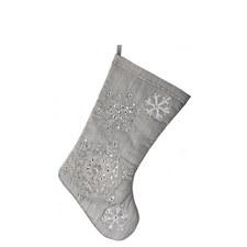 Sequin Snowflake Stocking