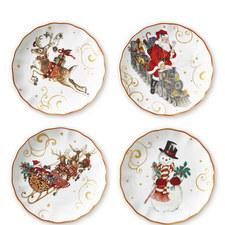 Christmas Side Plates 4 Set