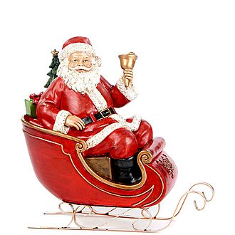 Santa in Sleigh Decoration