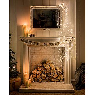 400 LED Cascading Warm Lights