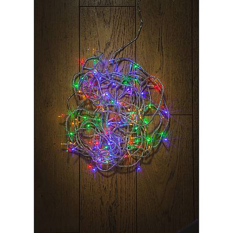 180 Clear Cable Multicoloured Lights, ${color}