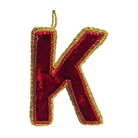 Crystal Embellished 'K' Tree Decoration, ${color}