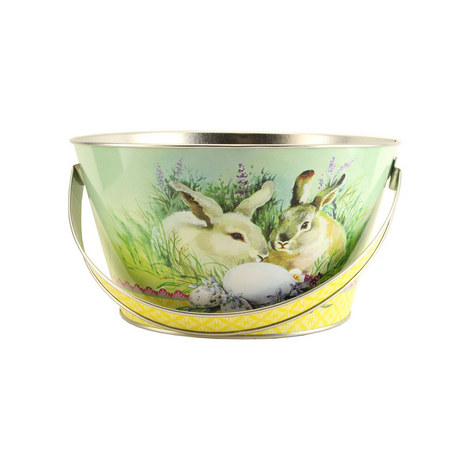 Easter Bunny Basket Tin, ${color}