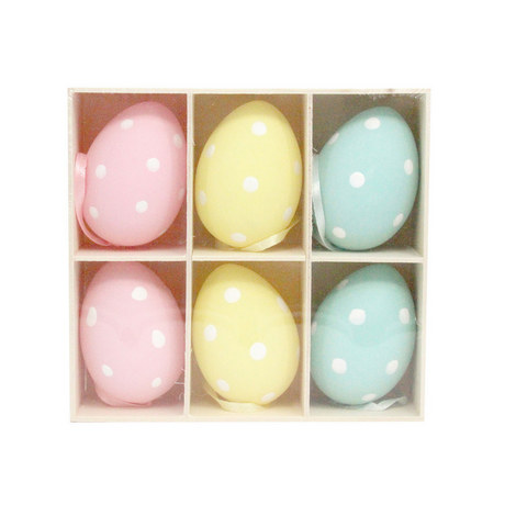 Polka Dot Easter Egg Hanging Ornaments, ${color}