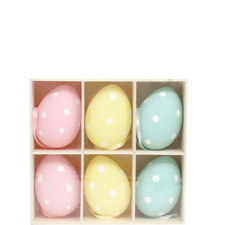 Polka Dot Easter Egg Hanging Ornaments