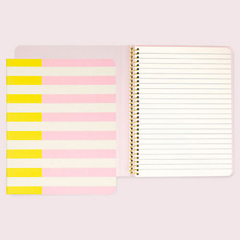 Two-Tone Stripe Notebook, ${color}