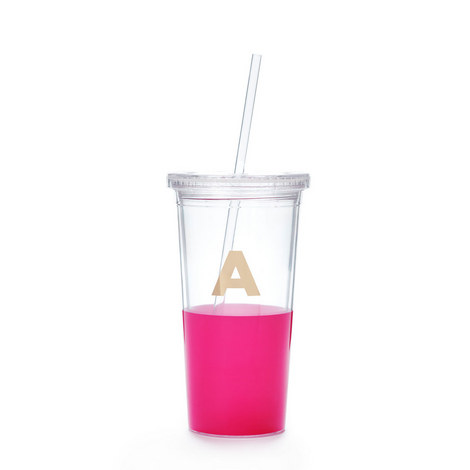 Dipped Initial A Tumbler, ${color}