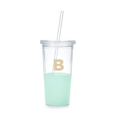 Dipped Initial B Tumbler, ${color}