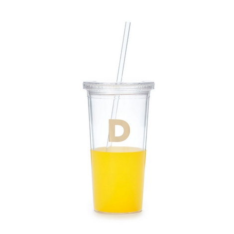 Dipped Initial D Tumbler, ${color}