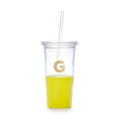 Dipped Initial G Tumbler, ${color}