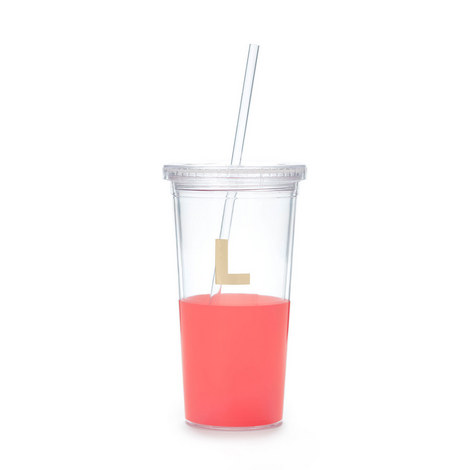 Dipped Initial L Tumbler, ${color}