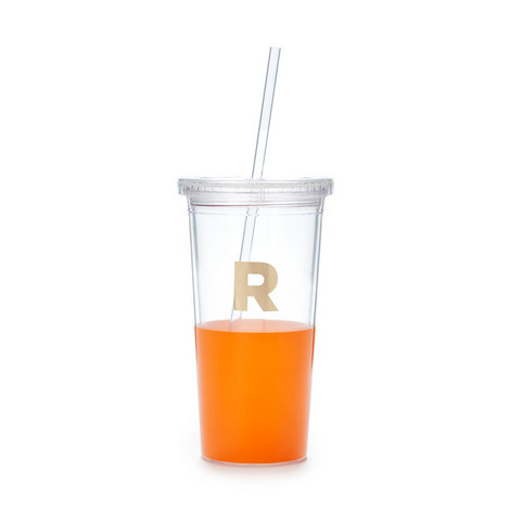 Dipped Initial R Tumbler, ${color}