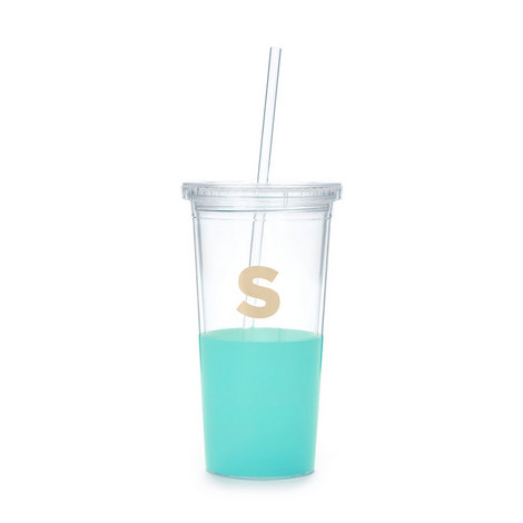 Dipped Initial S Tumbler, ${color}