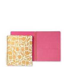 Floral Large Spiral Notebook