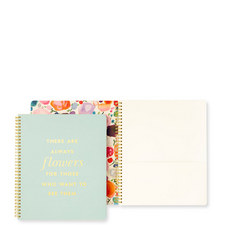 Always Flowers Large Spiral Notebook
