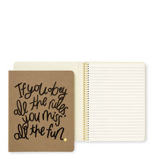 Obey The Rules Notebook