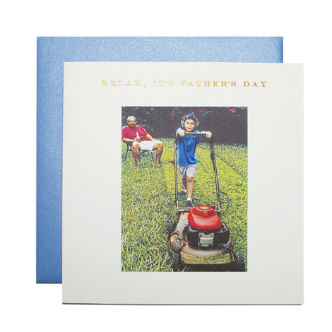 Father's Day Lawnmower Card, ${color}