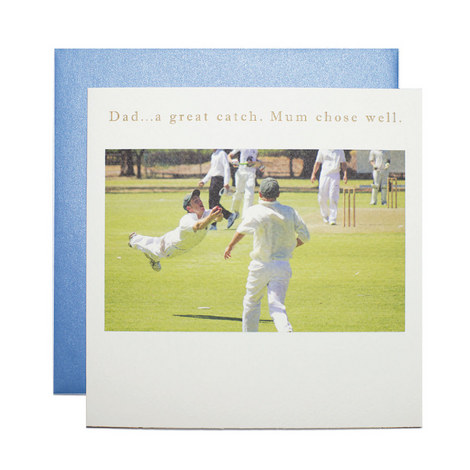 Father's Day Cricket Card, ${color}