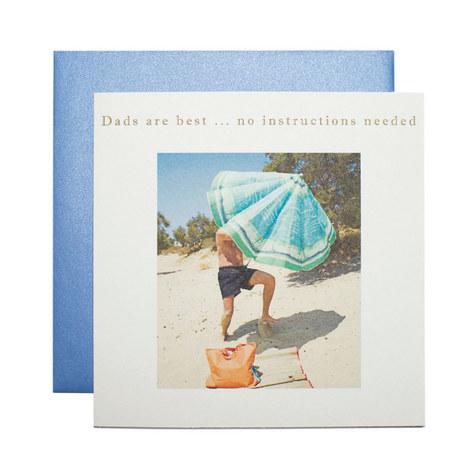 Father's Day Umbrella Card, ${color}