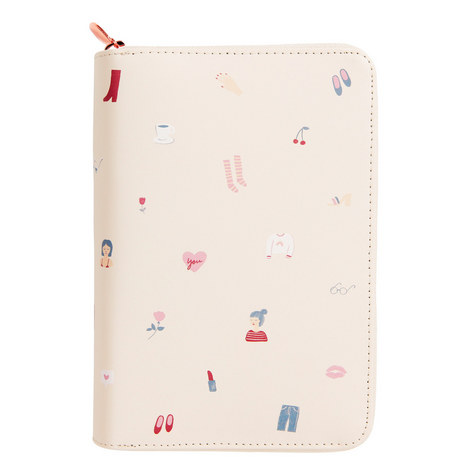 Leather Personal Zip Planner, ${color}
