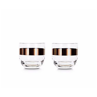 Tank Copper Whiskey Glasses Set.