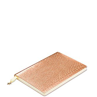 All That Glitters Rose Copper Croc A5 Notebook