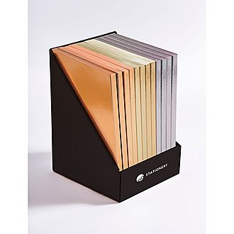 Set of 12 Colourblock Metallic  A5 Notebooks